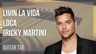 EASY Guitar Tab How to play Livin La Vida Loca by Ricky Martin