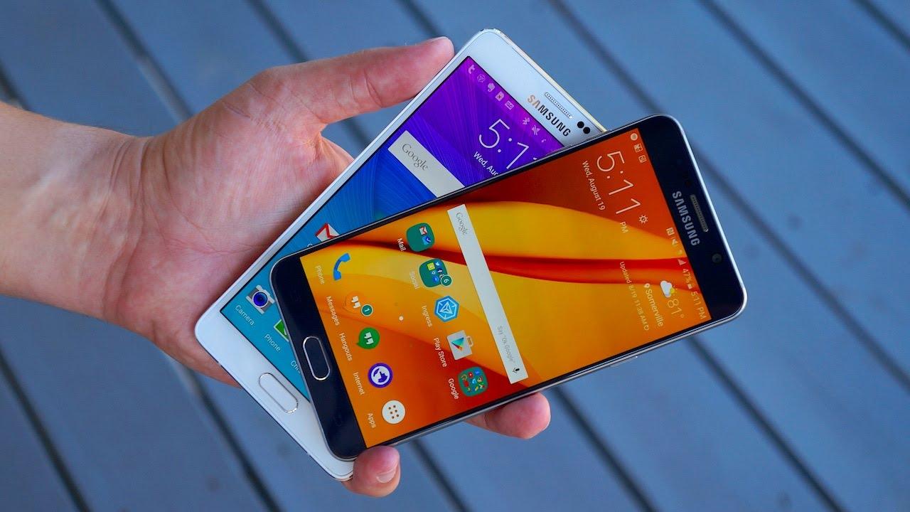Samsung Galaxy Note 5 and Samsung Galaxy Note 4 - Comparison