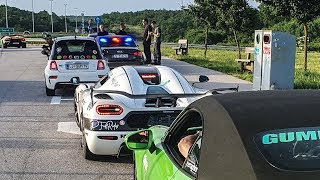 Gumball 3000 Croatian Police Stop us all at Doing Top Speed // Day 3