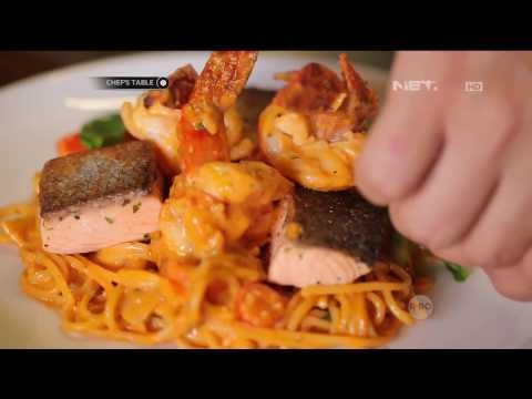 Chef's Table - Shrimp And Salmon With Pink Sauce Spaghetti