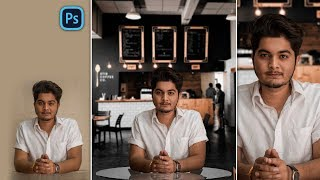 Boy in Cafe Photoshop Photo Editing | Instagram Trending Realistic Photo Manipulation in Photoshop