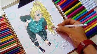 Speed Drawing Ino Yamanaka ( Naruto Shippuden )