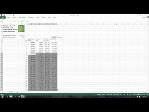 Excel PMT Function:  Loan Payment, Total Interest, Compounding Interest