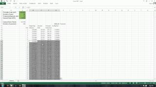 Excel PMT Function:  Loan Payment, Total Interest, Compounding Interest