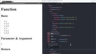 WEB2 JavaScript - 26.함수 : 매개변수와 인자