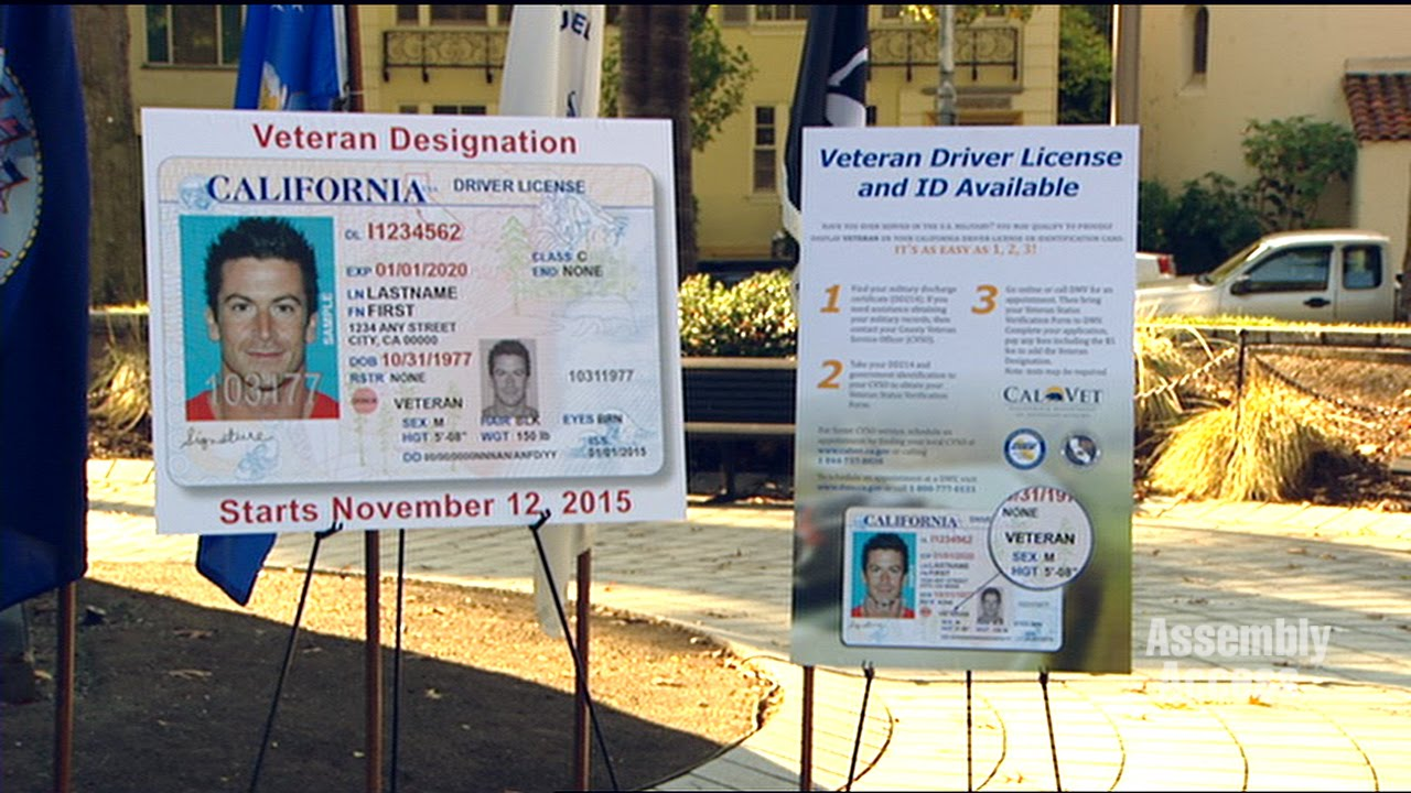 For Veteran And - Military Youtube California License Driver's Members Id Service Cards