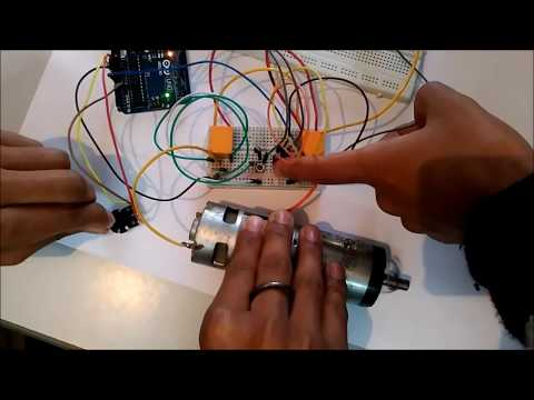 DC Motor Speed and Direction Control using Arduino