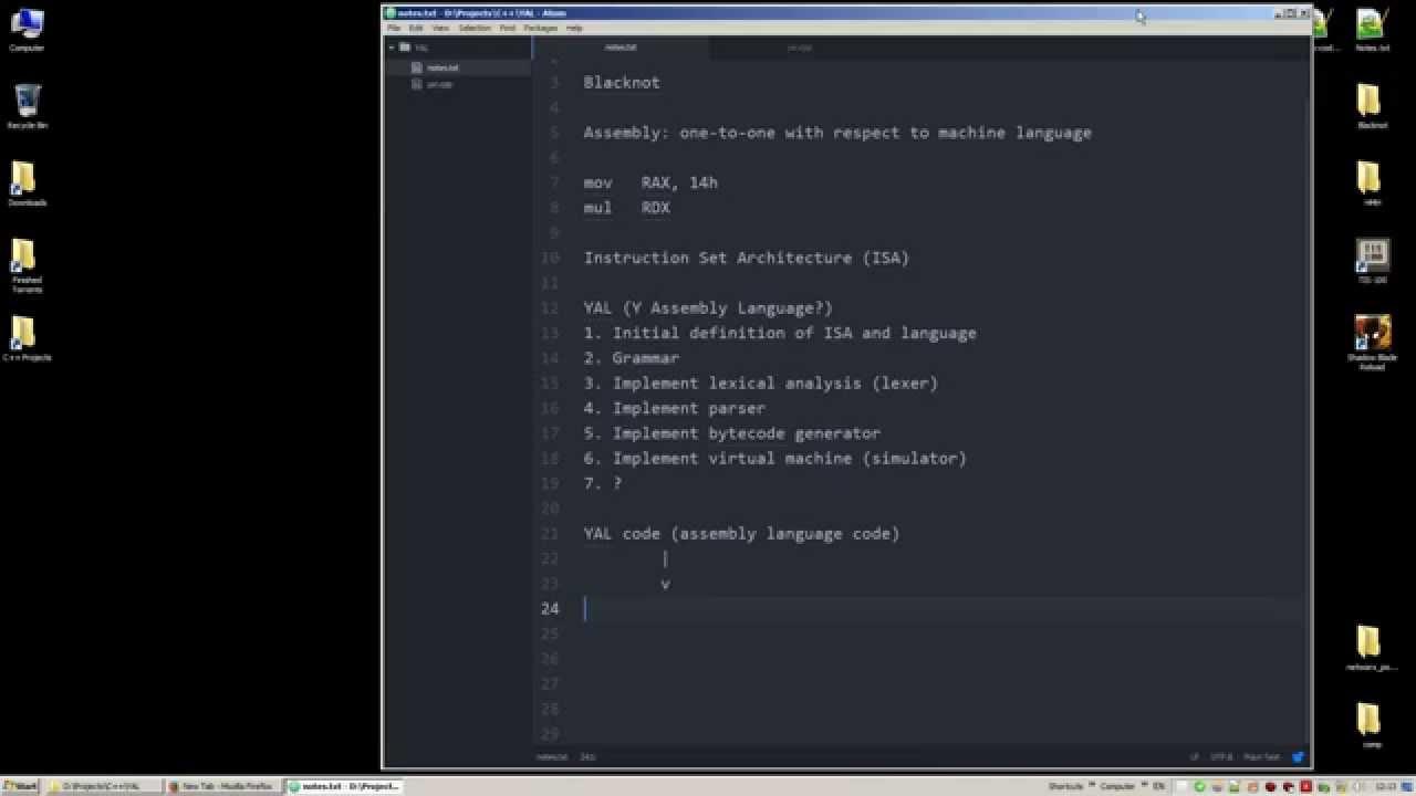 yProgram #001 - A Toy Assembly Language #01 - 2015/09/22
