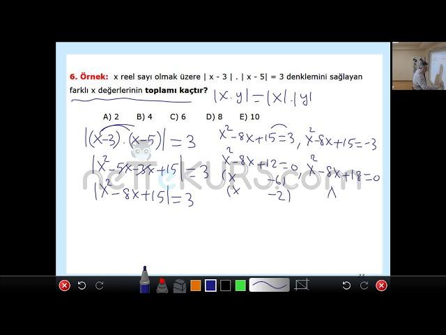 nettekurs.com Online TYT Kursu Matematik Dersleri - 2 / Mutlak Değer