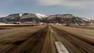King Air 350 landing at Eagle County Airport, Colorado