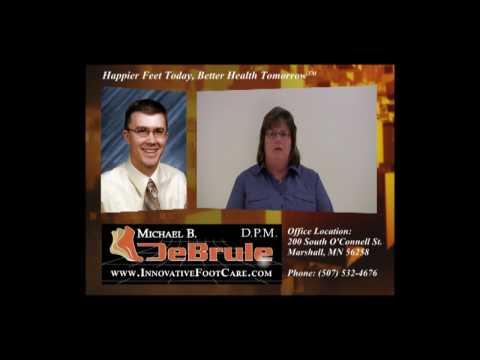 Testimonial 4 Dr. DeBrule [Podiatrist Minnesota][Gait Analysis]www.innovativefootcare.com