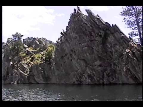 Cliff diving at Pactola