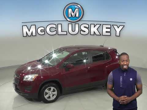 A12903PT Used 2016 Chevrolet Trax LS AWD Red SUV Test Drive, Review, For Sale -
