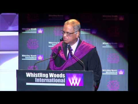 N.R.Narayana Murthy at Whistling Woods Convocation ceremony 2015