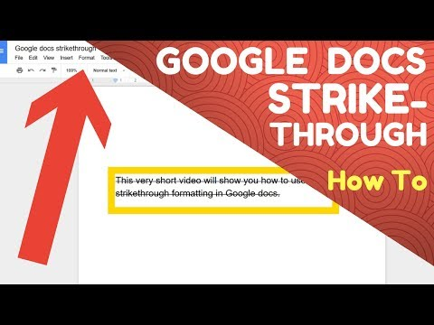 How to use Google Docs Strikethrough - YouTube
