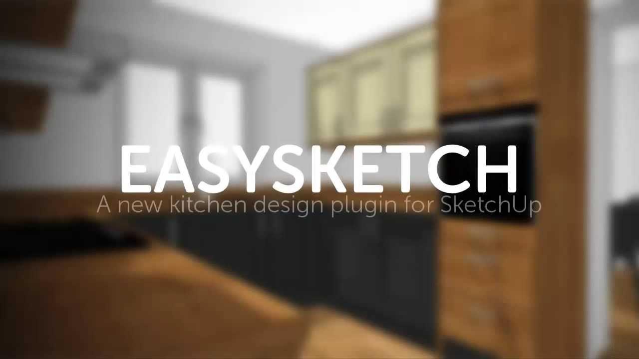 easysketch kitchen design plugin for sketchup - youtube