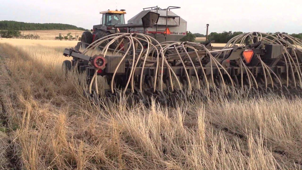 Seeding Barley in Wheat Stubble