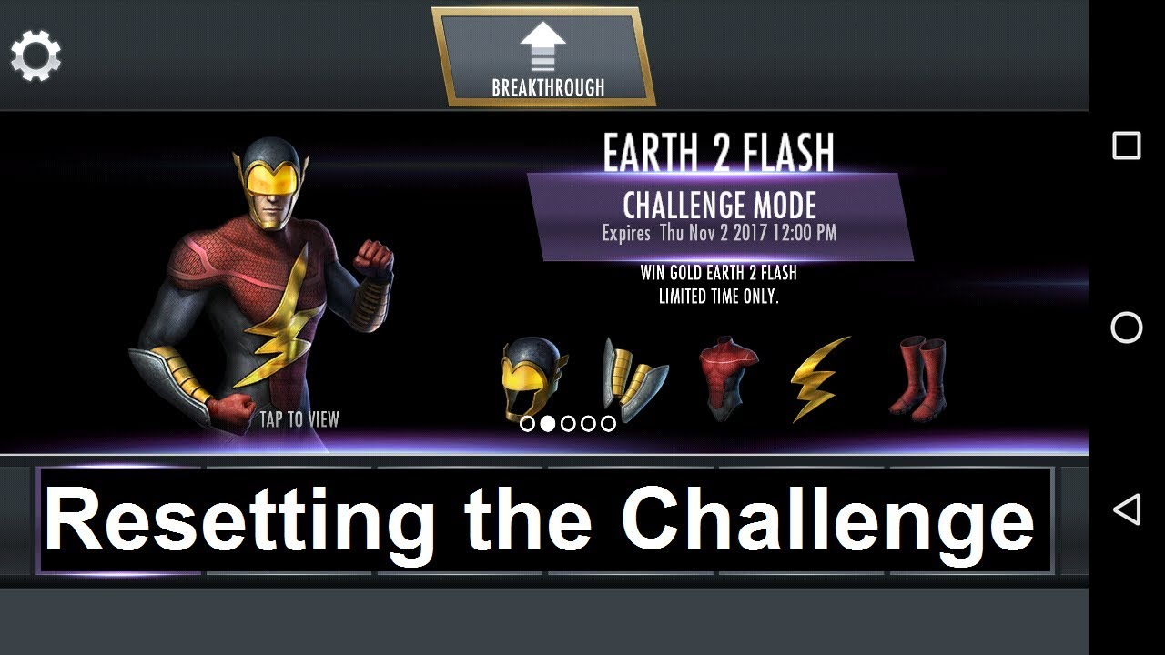 Injustice Mobile Android: Resetting the Earth 2 Flash Challenge
