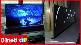 LG TV OLED65R9, nos premières impressions sur la télé enroulable 4k -CES2019