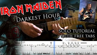 Iron Maiden - Darkest Hour Dave Murray's guitar solo lesson (with tablatures and backing tracks)