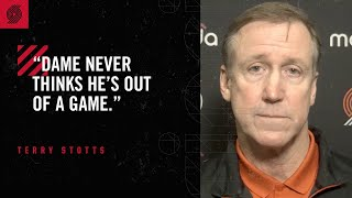 """Download Terry Stotts: """"[Dame] never thinks he's out of a game"""" 