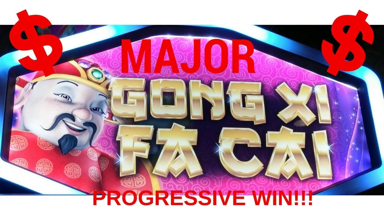 Progressive slot machine win