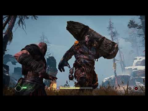 God of War - The Marked Trees: Defeat Javoi kaupmadr: Atreus Support Tutorial Death Cutscene (2018)