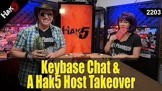 Keybase Chat & A Hak5 Host Takeover! - Hak5 2203