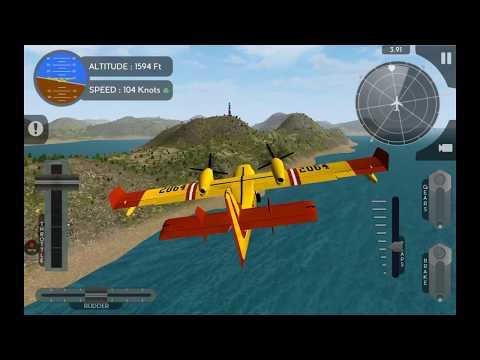 Rescue   Canadair CL415   Avion Flight Simulator   Realistic mode   aeroplane sim