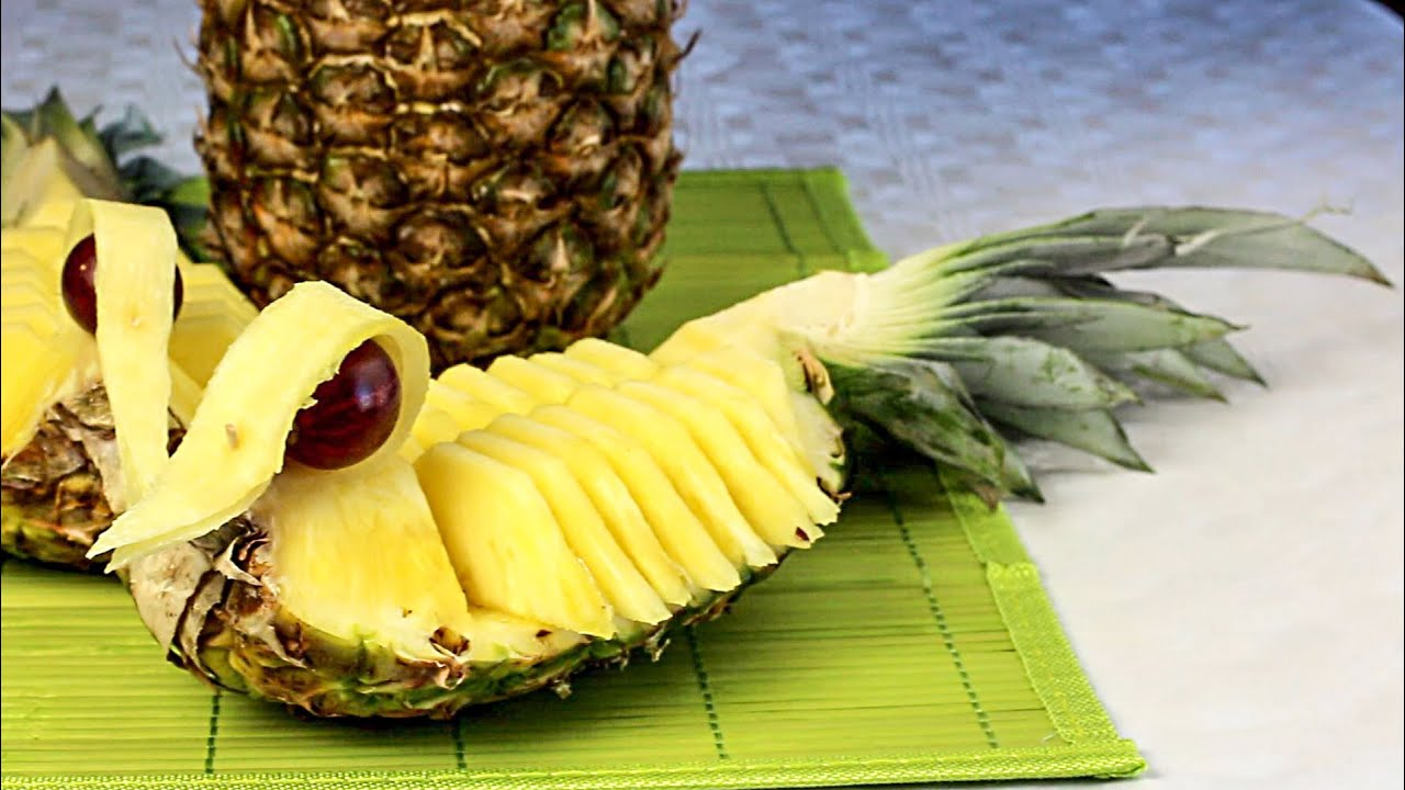Obst Schnitzen Ananas Enten Fun Food Youtube