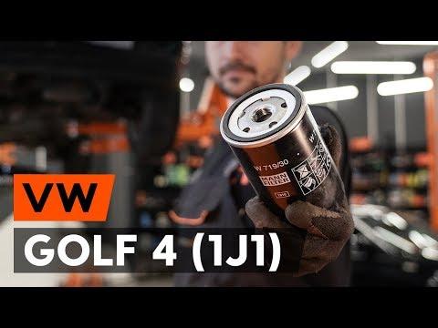 Как заменить моторное масло и масляный фильтр на VW GOLF 4 (1J1) [ВИДЕОУРОК AUTODOC]