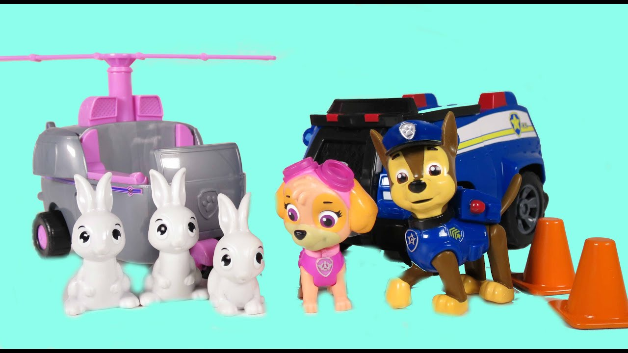 """PAW PATROL from Nickelodeon Toy Set """"Chase & Skye"""" Save"""