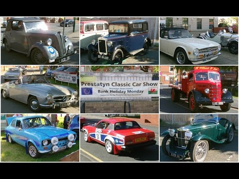 Prestatyn Classic Car Show 30.5.2016 - cars arriving - Ford