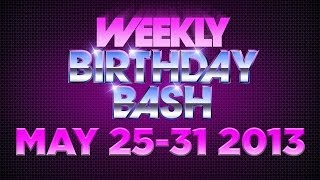 Celebrity Actor Birthdays - May 25-31, 2014 HD