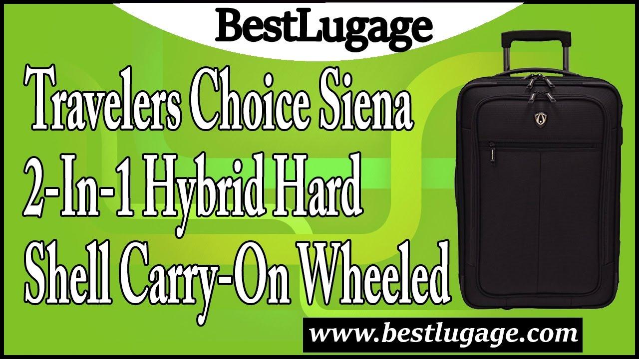 Travelers Choice Siena 2 In 1 Hybrid Hard Shell Carry On Wheeled ... c65da4653e382