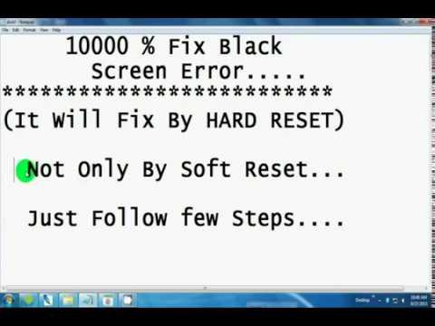 How to Fix Black Screen (Display) Error of Microso