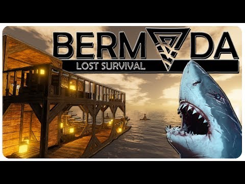 STRANDED DEEP meets RAFT, Building a Sea Base! | Bermuda Lost Survival Gameplay