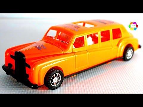 لعبة السيارة الليموزين البرتقالى الجديدة الحقيقية للاطفال افضل العاب السيارات والسباقات بنات واولاد