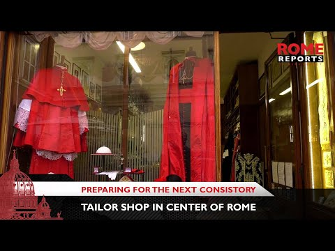 Tailor shop in center of Rome prepares for upcoming consistory