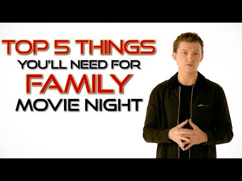 SPIDER-MAN: FAR FROM HOME - Tom Holland's Top 5 Family Movie Night Items