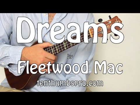 Dreams - Fleetwood Mac - Super Easy Beginner First Song Ukulele Tutorial - Classic Rock Ukulele