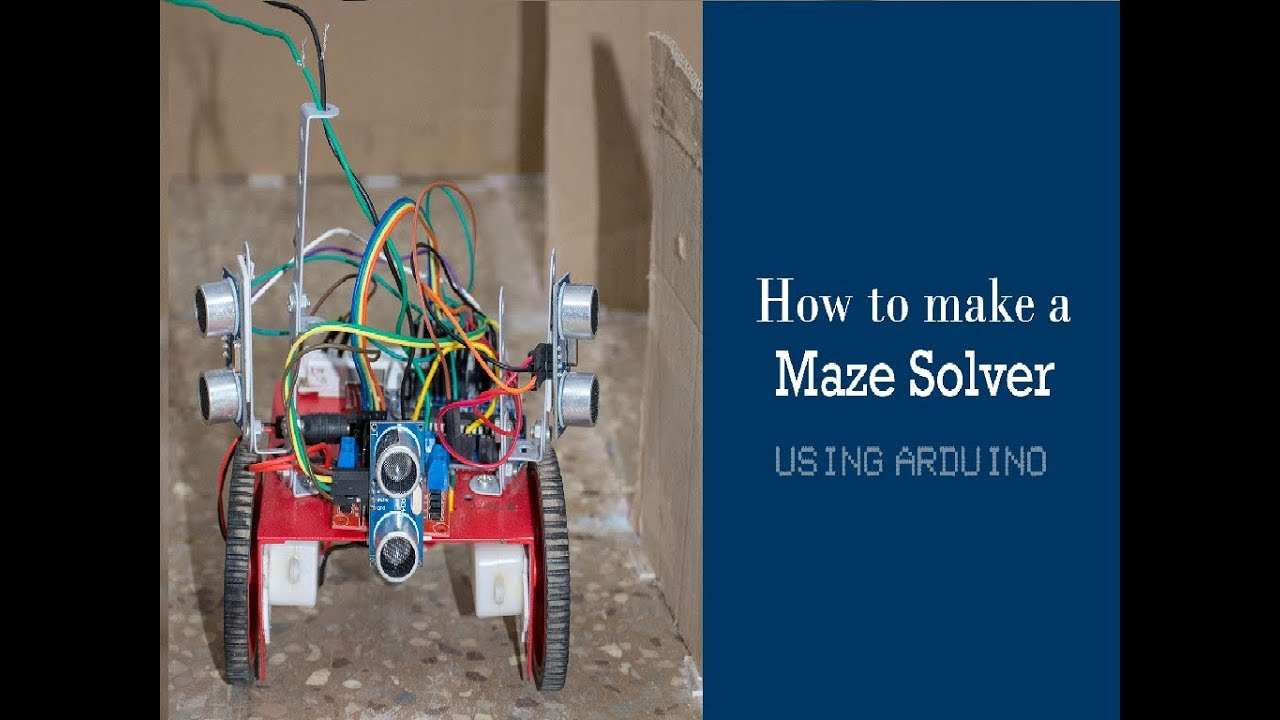 How to make a Self-Learning Maze Solver robot in 5 mins