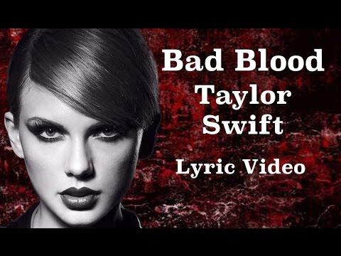 TAYLOR SWIFT ft. Kendrick Lamar -BAD BLOOD -  Lyric Video