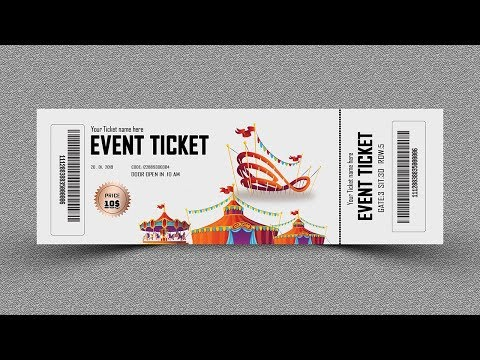 Event Ticket Design-Photoshop Tutorial