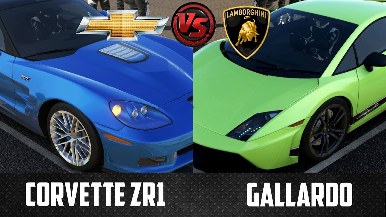 forza 5 chevrolet corvette zr1 vs lamborghini gallardo youtube. Black Bedroom Furniture Sets. Home Design Ideas