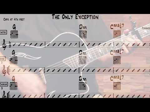 The Only Exception Chords for Beginner Guitar (Paramore)