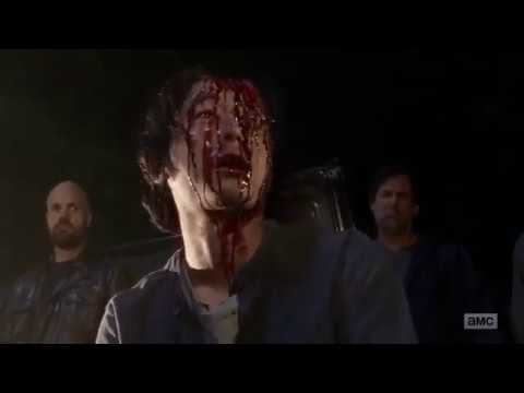 The Walking Dead 7x01 Negan Kills Glenn part 1 - YouTube