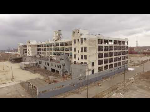 Abandoned Detroit. Fisher body plant and more. Drone phantom 3