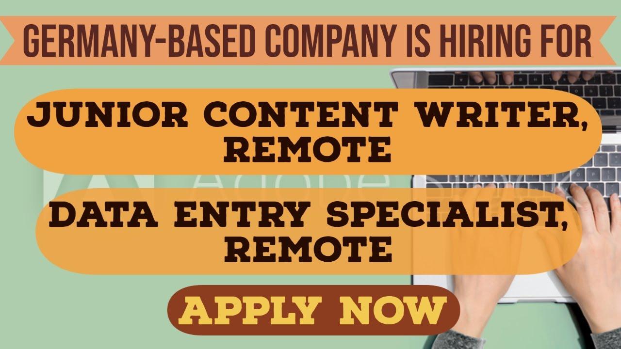 Remote writing companies