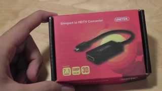 UNITEK SlimPort to HDMI Converter Review (MHL microUSB HDMI):